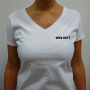 "T-Shirt Blanc ""Why Not?"" Pour Femme By Ivanart - Why Not"