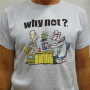 """Light Grey Unisex """"Doctor"""" T-Shirt By Ivanart - Why Not"""